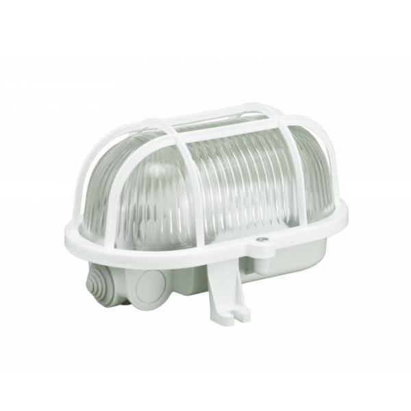 OVAL-60W šviestuvas IP44 baltas 302015 pl.grotelės