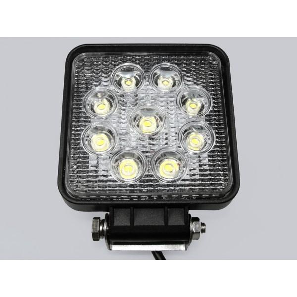 LED šviestuvas 9x3W kvadratinis IP 68 12-60VDC