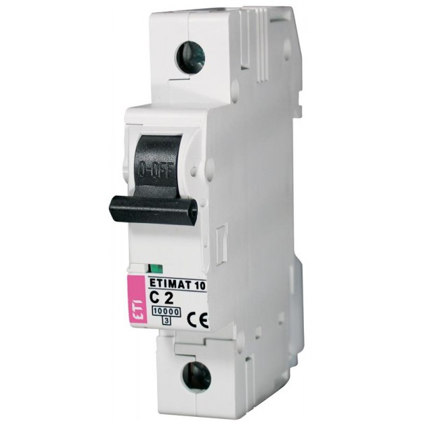 ETIMAT 1P  C  2A 10kA E1 automatinis išjungiklis