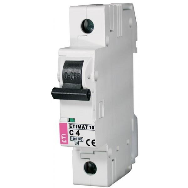 ETIMAT 1P  C  4A 10kA E1 automatinis išjungiklis