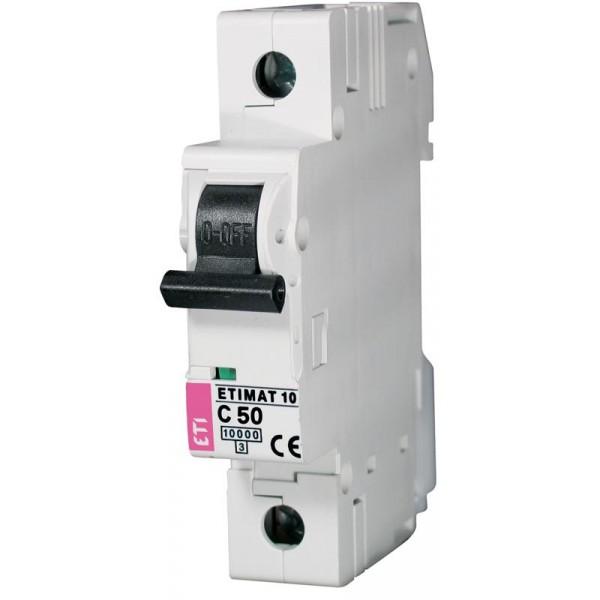ETIMAT 1P  C 50A 10kA E1 automatinis išjungiklis