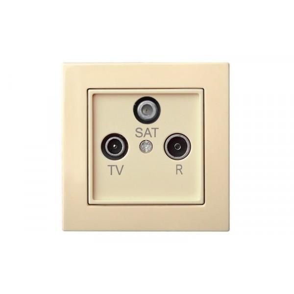 Lizdas IAL-3-01 TV+R+SAT galinis L E/S EPSILON