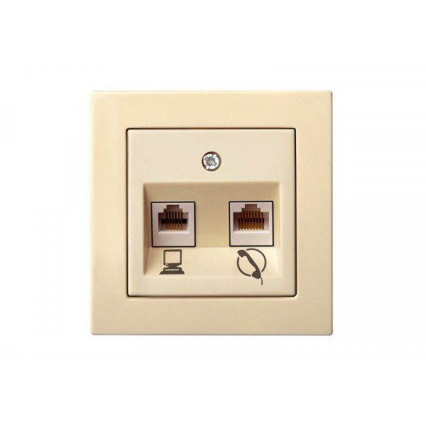 Lizdas ITKL-001-01 RJ11+45 b/r komp+telef L E/S