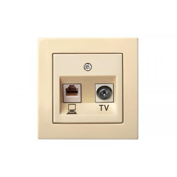 Lizdas ITVKL-1-01 TV/PC b/r smėlio L E/S EPSILON