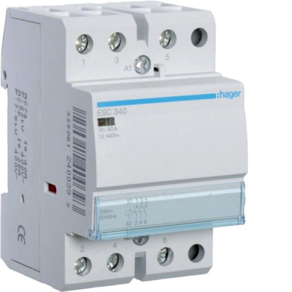 ESC340 kontaktorius 40A 3NA /230VAC