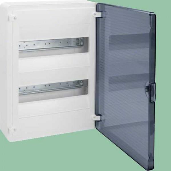 VS212TD skydelis 2x12 vt/skaidr.durelėmis IP40
