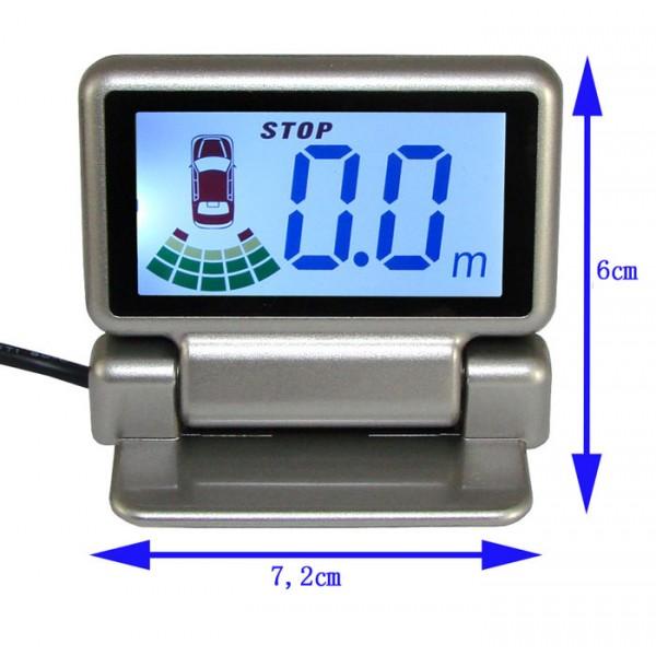 Priartėjimo daviklis 4 vnt. juodas + LCD ekranas