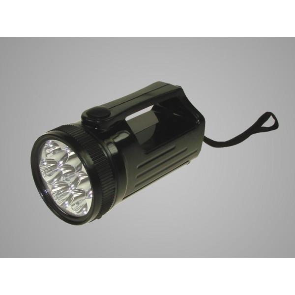 Žibintuvėlis 7+5 LED juodas 007557