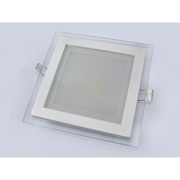 LED panelė 12w/4000K įl.stikl.kvadr.Baltas
