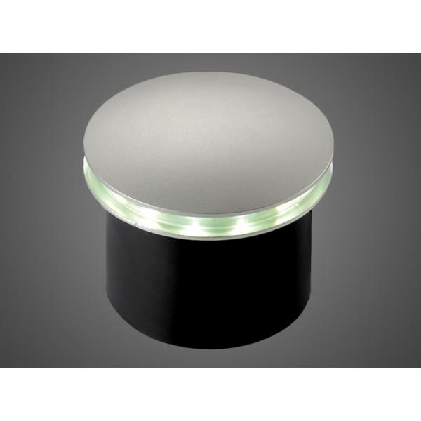 LED šviestuvas 1W IP54 DL juodas grindinio