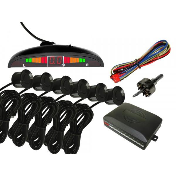 Priartėjimo daviklis 6 vnt. juodas LED signal.