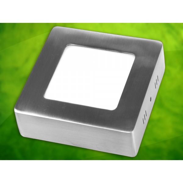 LED panelė  6W /230VAC kvadr. Rektus DLprid. Metal