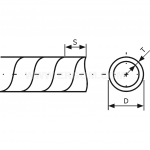WSN 12 spiralė laidui