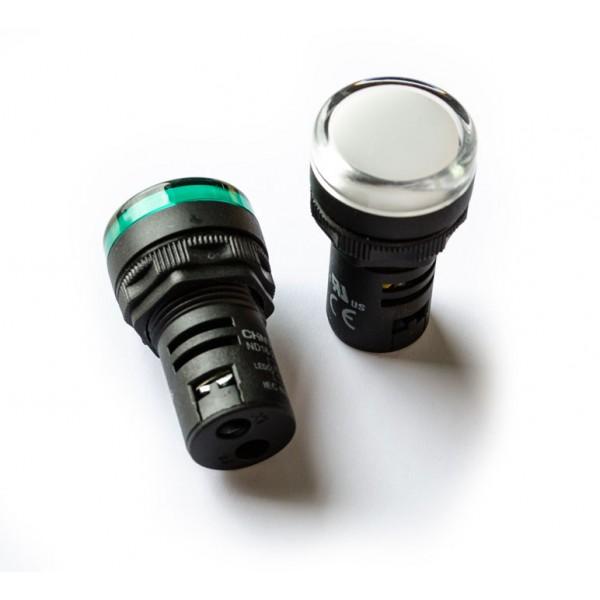 Signalinė armatūra, balta LED 24V CHINT