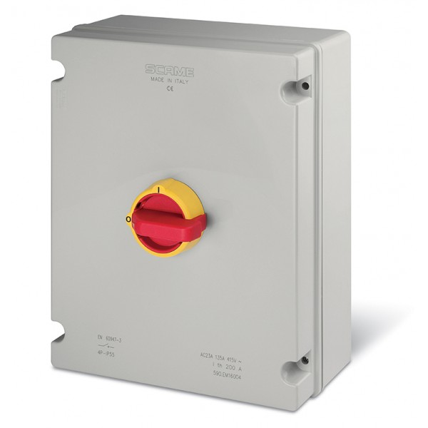 Kirtiklis 160A 3P 400V IP65 plast.dėz.590.EM16003