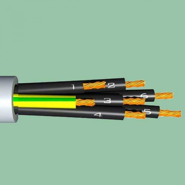7x  1.0 OMY/HO5VV-F kabelis baltas