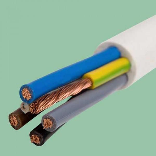 5x  4.0 OWY/H05VV-F kabelis juodas