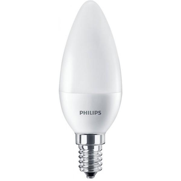 7/60W B38 E14/840 LED lempa cand.Core Philips